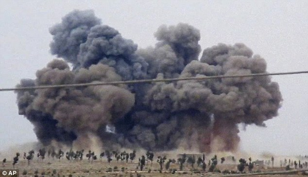 Russian bombing in Syria along with Turks