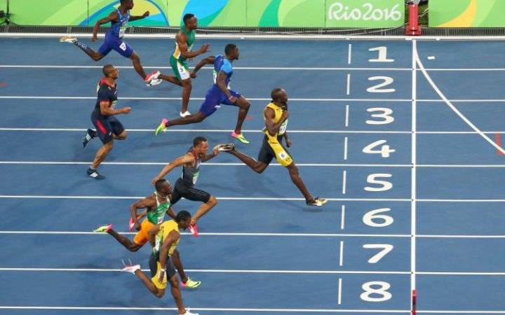 bolt wins thirds